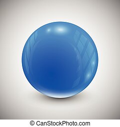 blue sphere isolated on a gray background