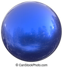 Blue sphere round button ball basic circle geometric shape figure
