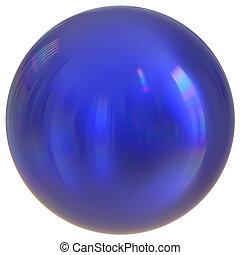 Blue sphere round button ball basic circle geometric shape