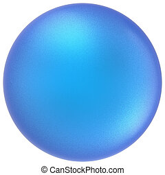 Blue sphere round button ball basic matted cyan circle empty