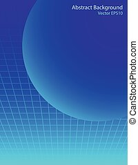 Blue sphere vector background