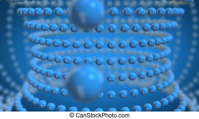 blue spheres moving loopable background