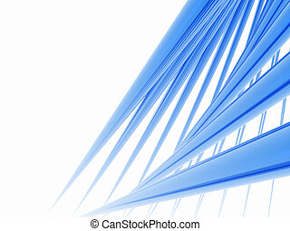 Blue Spikes - A group of three dimensional spikes.