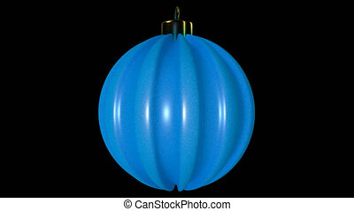 Blue Spinning Christmas Ball