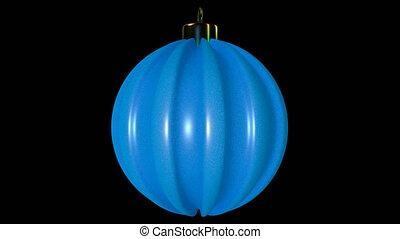 Blue Spinning Christmas Ball