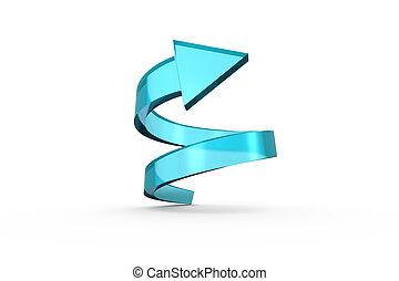 Blue spiral arrow