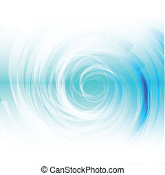 Blue Spiral on white Background
