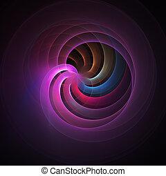 blue spiral rays