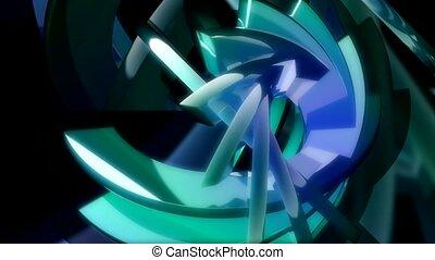 blue, spiral, twist