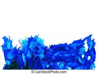Blue splashes bottom