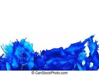 Blue splashes bottom horizontal