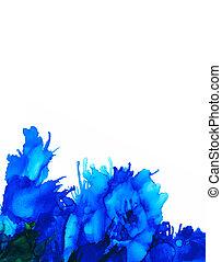 Blue splashes bottom vertical