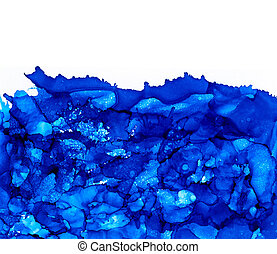 Blue splashes with texture