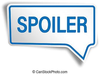 blue spoiler modern speech bubble tag web icon