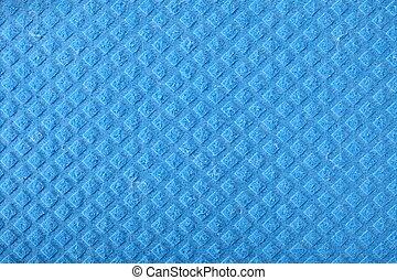 Blue sponge foam as background texture