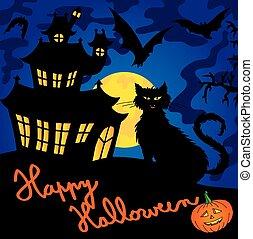 Blue spooky house 03