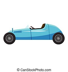 Blue sport car icon, isometric 3d style