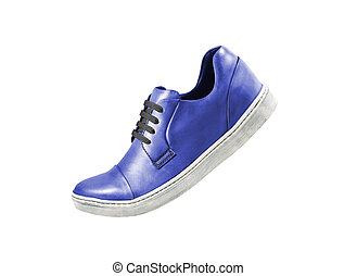 blue sport shoe isolated on a white