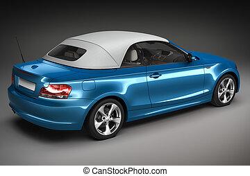 Blue Sports car. 3d render