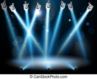Blue spotlights background - A blue spotlight background ...