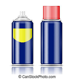 Blue spray can with red cap. - Blue spray can with red cap...