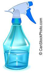 Blue sprayer. Illustration in vector format EPS