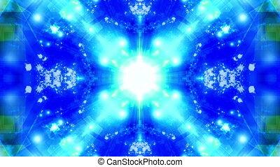 Blue Sprites Geometric VJ Looping Animated Background