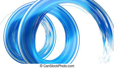 blue spyral brush stroke 3d rendering