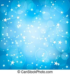 blue square background with stars