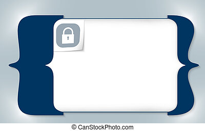 blue square brackets for entering any text with padlock