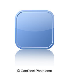 Blue square button