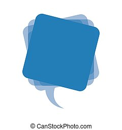 blue square chat bubble icon