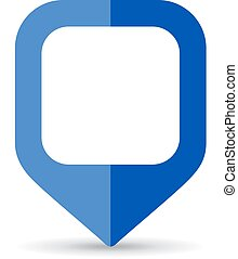 Blue square map marker