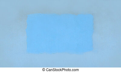 blue square on a cracked wall.photo with place for text