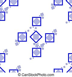 blue square seamless pattern