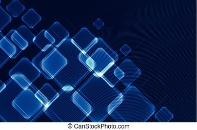 Blue squares - abstract background