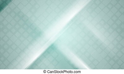 Blue squares and stripes abstract motion design. Video...