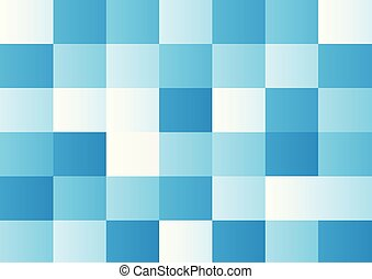 Blue squares on white background. Vector