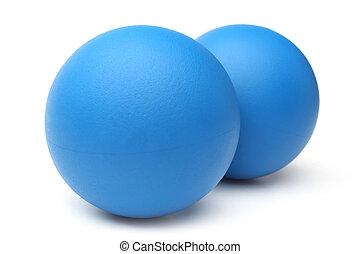 Blue squash balls