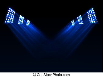 Blue stage lights background
