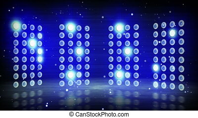 blue stage lights loopable background