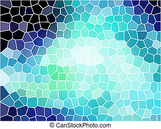 stained glass - Blue stained glass white light. Illustration...