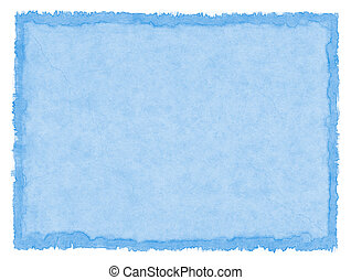 Blue Stained Paper
