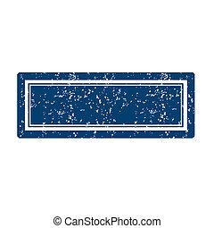 Blue stamp square