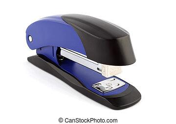 Blue stapler isolated