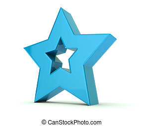 Blue star 3 dimensional background