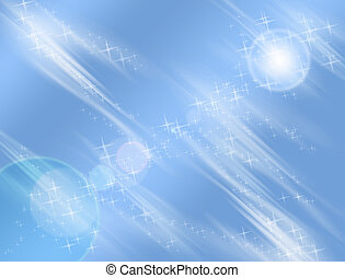 Blue Star Background - night stars and lights cosmic...