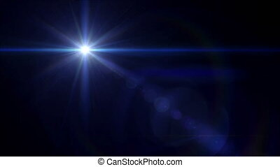 blue Star cross lens flare 4k