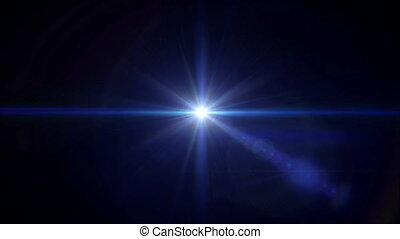 blue Star cross lens flare center 4k