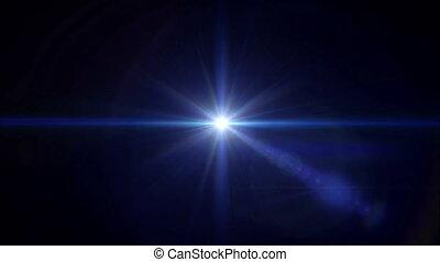 blue Star cross lens flare center 4k - abstract image of...